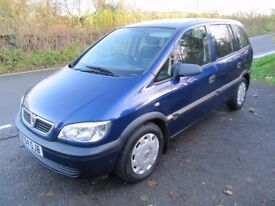 ZAFIRA 7-SEATER, STUNNING MPV, 58000 MILES, 1.6 LIFE, NEW MOT NO ADVISORIES, PART-EXCHANGE WELCOME