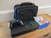 Sony PS2 Console plus Games and Carry Bag.