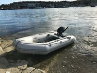 Inflatable Dinghy + Yamaha 4hp - Aluminum Floor