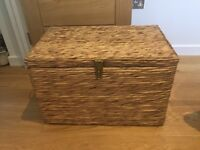 Set of 2 woven storage trunks