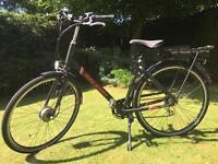Electric bike - Raleigh crossbar black