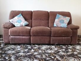 Furniture Village Hennessey Seater Reclining Sofa In A Brown
