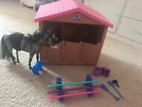 Horse, stable and bits