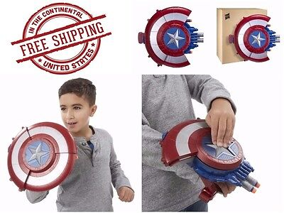 Captain America Shield Blaster Weapon Action Toy Launch Darts Gun Shoot Fire New