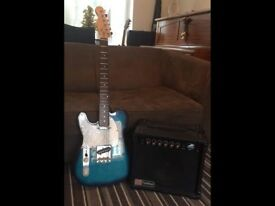 Electric Guitar Left handed & practice amp