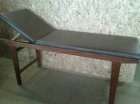 Mahogany adjustable massage table lovely condition