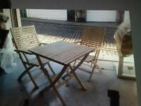 White table and chairs / cheap! . Must go! Dining garden patio set