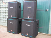 PEAVEY PA SPEAKERS 2 X 15'' SUBS 2X 15'' TOP CABS