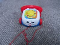 Fisher Price ; Chatter telephone pull along phone - Collection only Stourbridge DY8 4 area
