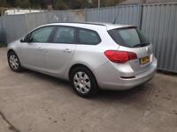 2011 11reg Vauxhall Astra 1.7cdti Silver Estate