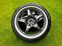 Drift wheels 4x100 4x114 17 league multifit not rota work