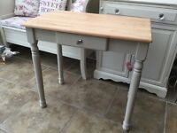Solid Pine Painted Console Table or Small Desk