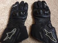 Alpinestars 365 Goretex motorbike gloves Large
