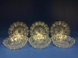 Set of six glass bon bon dishes in very good condition. Home craft upcycle Ideal xmas present SDHC