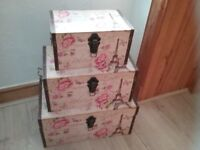 Set of 3 storage trunks