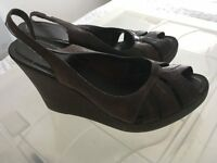 Wedge Brown Shoes