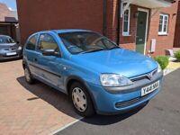 Vauxhall CORSA Club 12V in blue, 2001, 973 (cc), 3 door hatchback