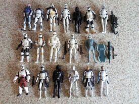 STAR WARS Stormtrooper + Clone Trooper Action Figures