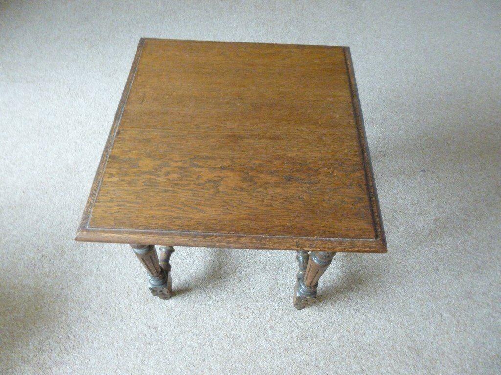 SMALL DARK OAK COFFEE TABLE In Milnthorpe Cumbria Gumtree - Small dark oak coffee table