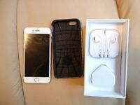 New iPhone 6S 128Gb Silver, Unlocked, with extras