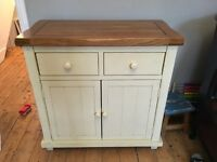 Gorgeous wooden sideboard dresser with cupboards cream