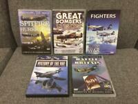 *SOLD* Bundle 5x aircraft war DVD's used. Spitfire Atlas Edition SDHC