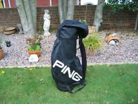 Ping soft leather golf bag immaculate condition as new
