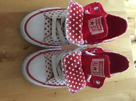 Girls All Star converse trainers. Brand new!