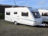 Abbey GTS Vogue 415, 4 Berth, Fixed French Bed, 4 Berth Caravan, 2007