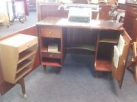 retro vintage writing desk/bureau/home office/sideboard