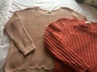 2 ladies jumpers Mark's and Spencer Indigo
