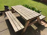 Children's Garden Table Bench