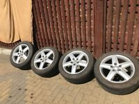 """AUDI A4-A6 GENUINE 17"""" ALLOYS - SET OF 4 - SPARE SET FOR WINTER - NEW TYRES"""