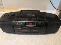 Double Cassette Recorder and Player, CD Player and Radio