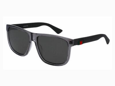 Sonnenbrillen Gucci GG0010S 004 GRAU POLARISIERT authentische