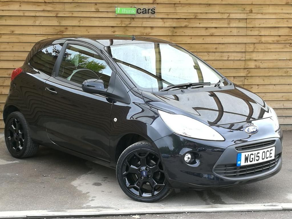 Ford Ka   Zetec Black Edition Dr Very Low Mileage Midnight Black