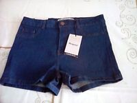 NEW Ladies Jean Shorts. Size 12 from New Look.