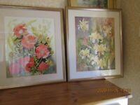 Pair Large Watercolours