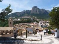 Spain. Tranquil village location but only 20 mins Benidorm. 2 bed ap'ment, rooftop terrace.