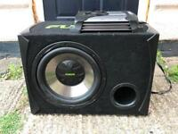 Fusion sub and amp with full wiring quick sale wanted