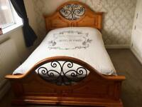 Lovely Pine double bed frame