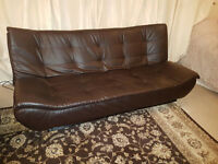 Brown Leather Sofa Bed for Sale
