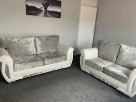 Crushed Velvet 2+3 Seater Sofa