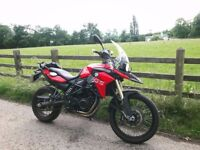 BMW F800GS 2015 Red, Excellent Condition, Low Mileage, EXTRAS