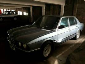 1987/D reg 1987 BMW 520i LUX. Unfinished project