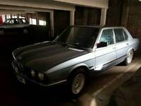 1987/D reg 1987 BMW 520i LUX. Unfinished project