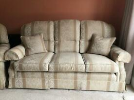 3 Seater Sofa, 2 Armchairs and a Footstool In Excellent Condition