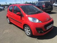 (63) Peugeot 107 1.0 , mot-July 2019 , only 35,000 miles ,service history,aygo,c1,fiesta,corsa,clio