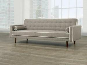 Fabric Sofa Bed with accent Pillows (BD-1683)