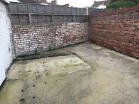 Need concrete digging up in small 10x4m yard & turfing in Merseyside, Wallasey